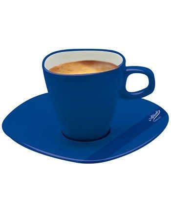 Alfredo Espressotasse mit Untertasse blau 'Walküre' 6 Stück