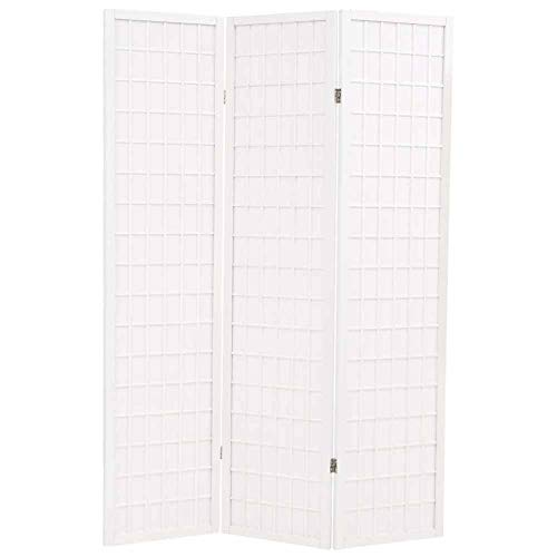 Wakects - Biombo plegable para separación, 3 paneles de madera, panta