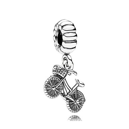 Pandora 925 Sterling Silverbead Fahrrad Anhänger Charm Fit Mode Frauen Bangle diy Liebe Schmuck