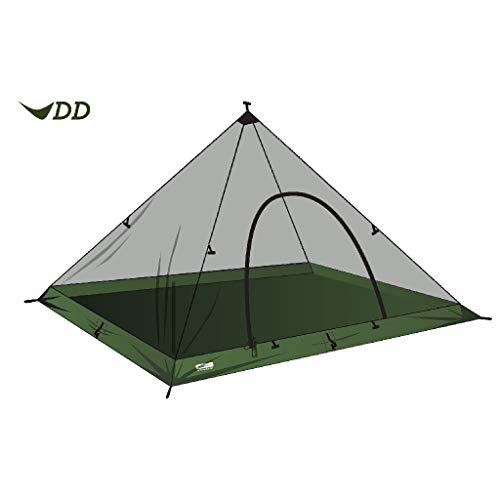 DD superleichtes Pyramiden Netz-Zelt XL extra groß - Innenzelt mit Zeltboden und Moskitonetz