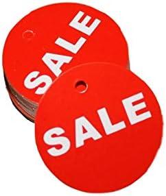 Large discharge sale 45x45mm Regular dealer 100PCS Red Price TagsRed Rope