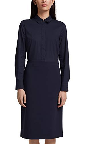 ESPRIT Collection Damen 011EO1E308 Kleid, 400/NAVY, 42