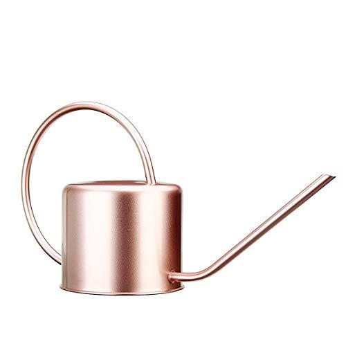 GEEKEN 1300Ml Regadera JardíN de Metal Acero Inoxidable para el Hogar Flor Botella de Agua Manejar de FáCil Uso para la Planta de Riego Herramienta de JardíN de Boca Larga