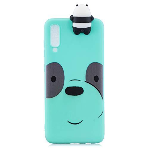Nodigo Funda Compatible con Xiaomi Mi 9 SE Silicona 3D Animal Dibujos Motivo Creativo Ultrafina Carcasa Case Antigolpes TPU Bumper Kawaii Resistente Cover - Panda B
