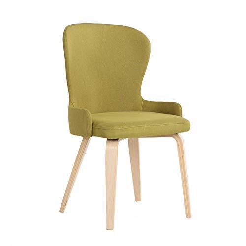 C-K-P Massivholz Barhocker Esszimmerstuhl Konferenztisch und Stühle Kaffee Lounge Stuhl Hause Schlafzimmer Stoff Balkon Stuhl H97cm (Farbe : Green)