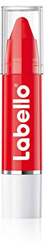 Labello Lips2Kiss Color Lip Balm Poppy Red im (3g), Lippenpflege mit intensiver Farbe, Lippenstift mit echter Labello Pflege, rot