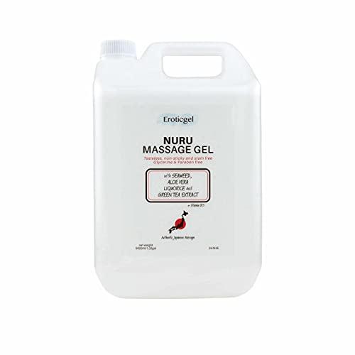Eroticgel Auténtico Gel de Masaje Japonés 5000ml / 1.32 gal con Aloe Vera, Algas, Té Verde, Extracto de Regaliz y Vitamina B5 - Shinke