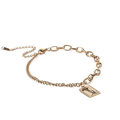 Pulseras, pulsera personalizada, colgantes creativos 12 Tallot GAP, usan acero de titanio, adecuado como regalo para hombres y mujeres