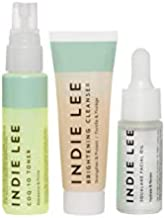 Indie Lee Discovery Kit - Brightening Cleanser, CoQ-10 Toner + Squalane Facial Oil - Skincare Regimen for Adults (3-Piece Travel Size Set)