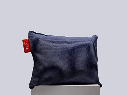 Stoov Ploov 45x60   Knitted Heizkissen Denim Blau