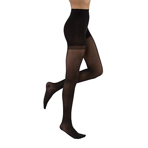 JOBST UltraSheer Waist High 20-30 mmHg Compression Stockings Pantyhose, Closed Toe, Medium, Classic Black