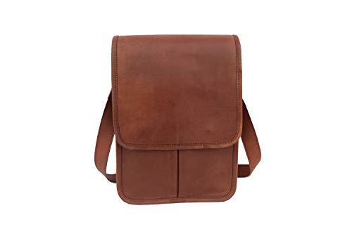 """Vintage Leather Messenger Bag 13"""" MacBook/Laptop Satchel Crossbody Shoulder College School Bag"""