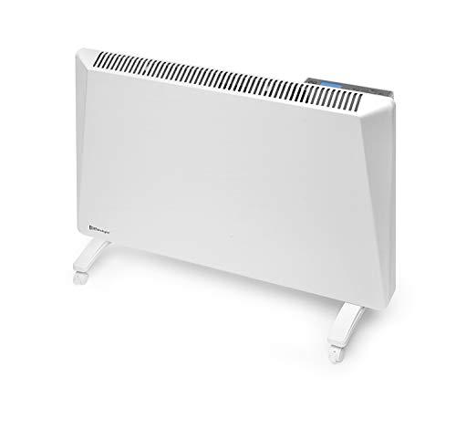 Radialight® Sirio - Termoconvector eléctrico portátil de bajo consumo con control digital de temperatura programable Eco Estufa calefactor de bajo consumo Protección de humedad IP24 (1000 W)