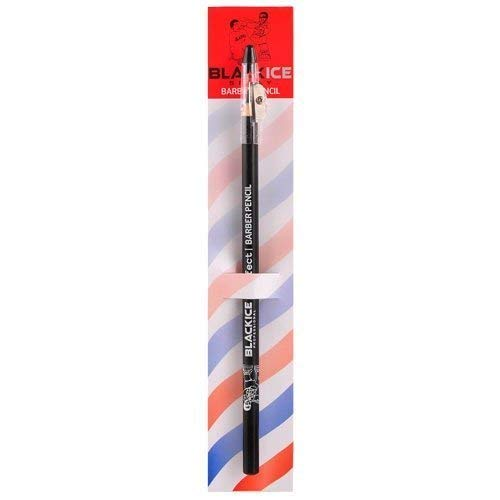 Black Ice Spray Barber Pencil (Black) - 6 Pieces, Tool can be Used for Making Distinctive Beard, Mustache and Eyebrow Arches, Color: Black, Pencil to Fill in Missing Spots.