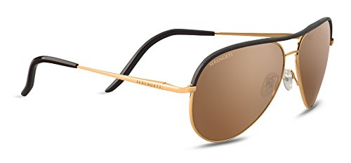 Serengeti Erwachsene Carrara Sonnenbrille, Shiny Bold Gold, Medium