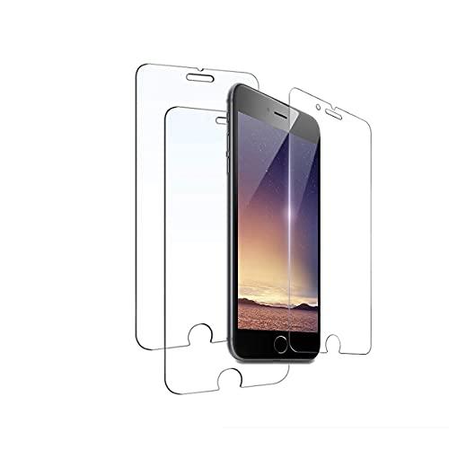 Rluobo Protector de Pantalla para iPhone 8 Plus/iPhone 7 Plus/iPhone 6s Plus/iPhone 6 Plus, Cristal Templado, Vidrio Templado, 9H, 3 Unidades