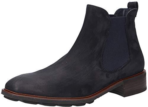 Paul Green Damen Chelsea-Boots, Frauen Stiefeletten, halbstiefel Schlupfstiefel flach weiblich Lady Ladies feminin elegant Women,Blau,7 UK / 40.5 EU