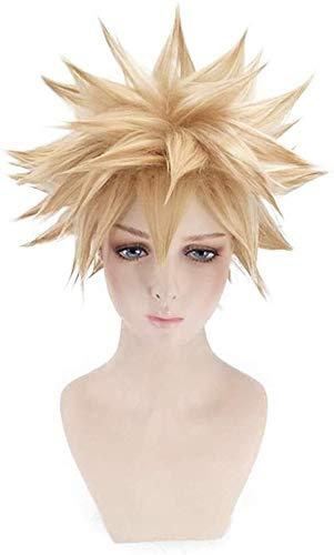 Pelucas sintéticas sueltas cortas y esponjosas de anime Cosplay peluca (color A: A)