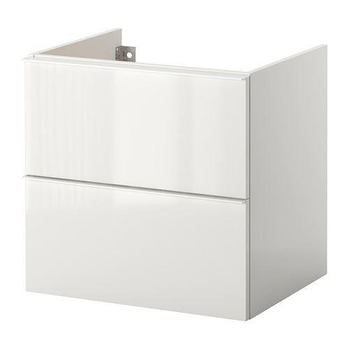 eLisa8 GODMORGON - Waschbeckenschrank/2 Schubl, Hochglanz weiß