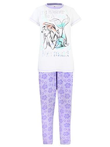 Disney Damen Arielle Die Meerjungfrau Schlafanzug Mehrfarbig Small
