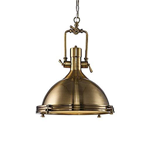 K.LSX Industriële Hanglamp Verlichting Chrome Nautische Plafond Lichten Goud Kroonluchter Licht Shades Plafond Hanglamp met Ketting, Vintage Iron Art Kroonluchter