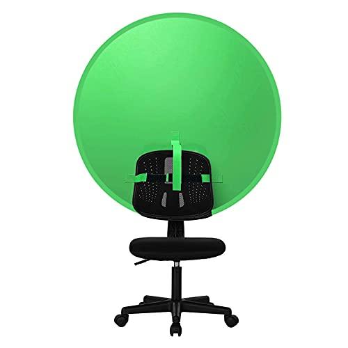 Elosis Tragbarer Faltbarer Greenscreen Hintergrund Fotografie Hintergrundtuch Mit 142 cm Durchmesser Und Ringhalterung Aus Stahl,Green Screen Für Fotografie/Live-Übertragung/Virtueller Szene Verwendet