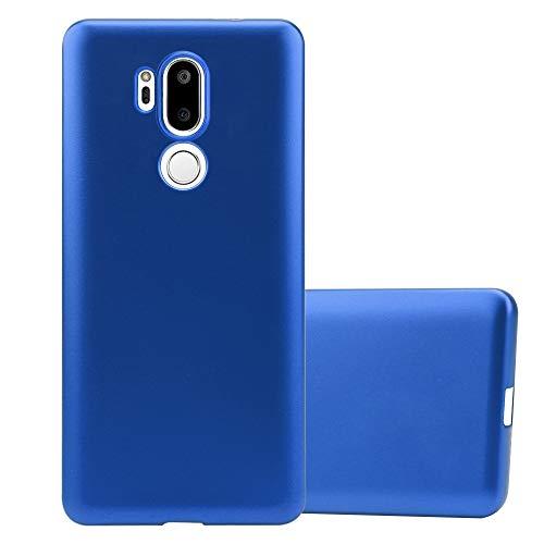 Cadorabo Custodia per LG G7 ThinQ in Azzurro Metallico - Morbida Cover Protettiva Sottile di Silicone TPU con Bordo Protezione - Ultra Slim Case Antiurto Gel Back Bumper Guscio