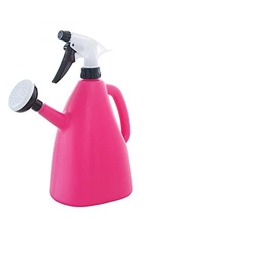 wuzun 2 in 1 Plastic Watering Can Indoor Garden Plants Pressure Spray Water Kettle Adjustable Sprayer 1L TN99-Red