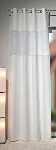 HECO Textilverlag Gardine Ösenschal Galaxy 90, Vorhang mit Einsatz, cremeweiß, Top Qualität
