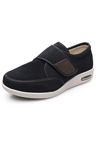 Men's Diabetes Elderly Shoes Big Velcro Adjustable Anti Slip Double Layer Insole air Cushion Sole...