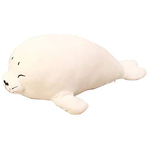 Cute Seal Almohada De Felpa Chubby Seal Almohada Para Abrazar Almohadas Animales Peluche Juguete Felpa Suave Animales Marinos - 40 Cm Juguete Para Aliviar Estrés Dormir Apretar Abrazos Para Sofá, Cama