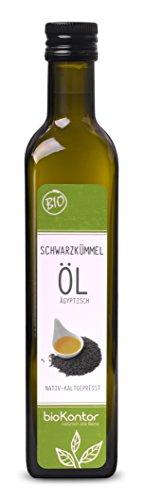 bioKontor BIO Schwarzkümmelöl ägyptisch - nativ, kaltgepresst, 100% rein - 500ml