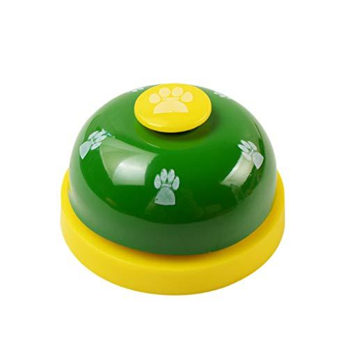Yowablo Pet Training Bells Hundeglocke für Töpfchen und Kommunikationsgerät (7 * 4.5cm,Grün)