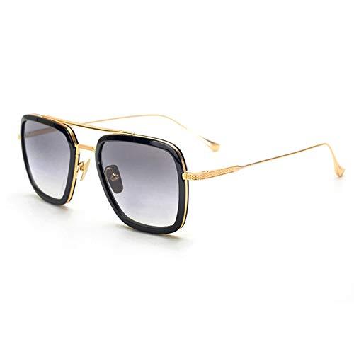 Gafas de sol Spider Man Edith, marco de metal para mujer, gafas de sol clásicas Downey Iron Man Tony Stark, estuche de gafas y bolsa de tela