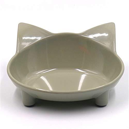 XINGJIJIJIA Schalen Lebensmittel-Grade Cat-förmigen Hundegeschirr Fressnapf for Hund Katze Feeder Utensilien Small Medium Hundefutter Wasser-Schüssel Tierzubehör Wert (Color : Gray)