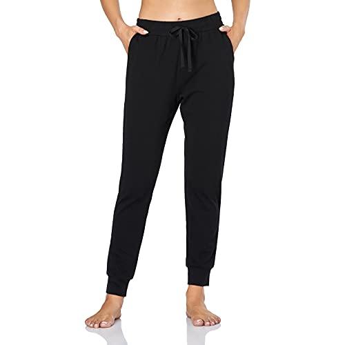 Gimdumasa Chandal Mujer Pantalon Mujer Pantalones Deporte Mujer Pantalones de Deporte Yoga Fitness Mujer GI06(Negro,XL)