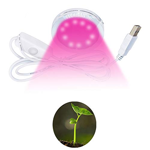 YLANK LED Grow Light USB Powered 5V DC Plant Grow Lamp with Embedded Strong Magnetic Sticker 3W Energy Saving Flexible Soft Plant Grow Light for Indoor Plants,Plant Growing