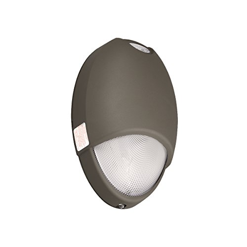 HUBBELL CUWZ-PC CUW Exterior Emergency Light with Battery Backup and Photocell, Commercial Grade LED Outdoor Lamp with Aluminum Housing, 100/300VAC UL924 Wet Location, Dark Bronze