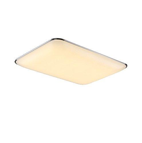 LED Deckenlampe Deckenleuchte voll dimmbar mit Fernbedienung für Kinderzimmer Wohnzimmer Büro Küche Silber (503Y-80W)
