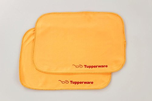 TUPPERWARE FaserPro Durchblick orange (2) T18 Brillenputztuch Putztuch Brille Handy 17251