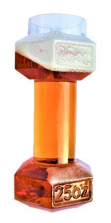Set of 2, Dumbbell Beer Glasses | Dumbell Beer Glass | Funny Beer Mug | Beer Mugs For Men | Funny Beer Glasses | Beer Glasses Funny | Cool Beer Glasses | Giant Beer Glass | By Gemsho Glass B07X8DLK3W