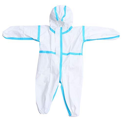 EXCEART Kinder Schutzanzug Kapuze Reißverschluss Einweg Unisex Overall Anzug Sicherheit Ganzkörper Schutzkleidung für Körpergröße von 75 bis 90cm Im Freien Outdoor Aktivität Kostüme