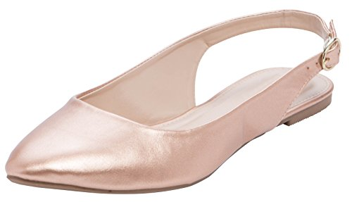 Top 10 best selling list for flat slingback shoes gold