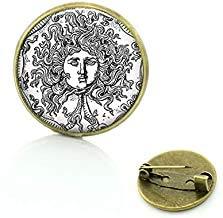 Tetragrammaton Symbol Broschen Gott Jehovas Zeugen Geschenk Vintage Buddhismus christlich religiöse Männer Frauen Pins