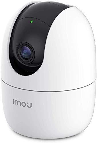 WLAN Überwachungskamera Innen 1080P, 360° schwenkbar IP Hundekamera Personenerkennung Verfolgung Geräuscherkennung, Sirene, Funk. mit Alexa/Echo, Ranger 2