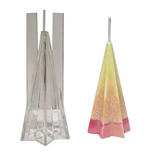Sue-Supply plastic kaarsen vormen piramide vorm vorm voor het maken van kaarsen vijfzijdige kegel/kegel/zeshoek zeep maken mallen