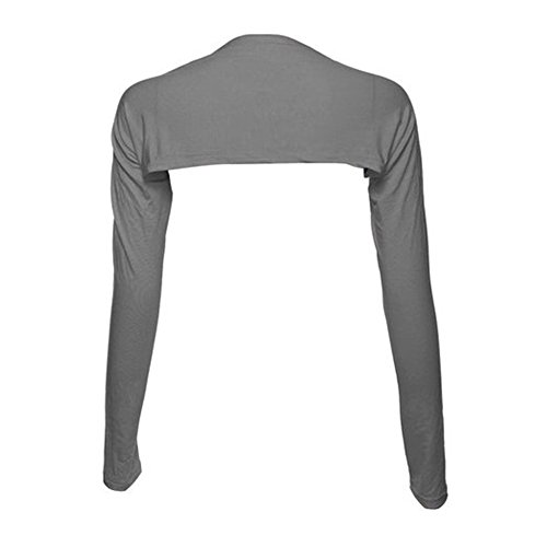 YEESAM Bolero Shrugs for Women Long Sleeve Arm Sleeves Hijab Accessories One Size (Gray)