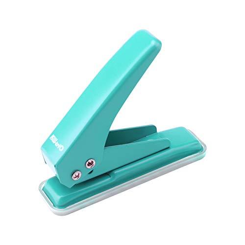 Festnight Mini Metall Einlocher Locher 1-Loch Papierstempel 20 Blatt Kapazität 6 mm Löcher Reduzierter Aufwand mit Schrottsammler für Bürobedarf zu Hause