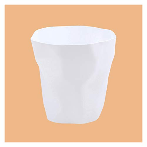 Garbage Bin for Kitchen, Office, Home Creative Plastic Living Room Bedroom Bathroom Trash Can Household Personality Folds Trash Can Wastebasket Simple Kitchen Garbage Can Silent and Gentle Open and Cl