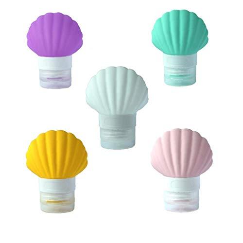 5PCS / PACK bouteilles Shell voyage silicone TSA approuvé Bouteilles Voyage portable liquide Conteneur de 3oz